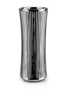 Lumarko Yvonne silver wazon 12x12xh30,5cm