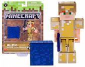 Figurka MINECRAFT Alex w Złotej Zbroi 3w1 Seria 4
