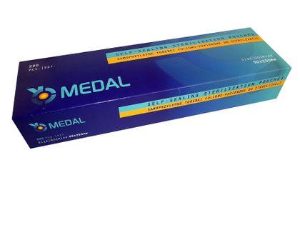 Torebki do sterylizacji 90 x 260 Medal 200 sztuk
