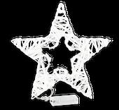 Biała gwiazda podświetlana z diodami LED 30 cm