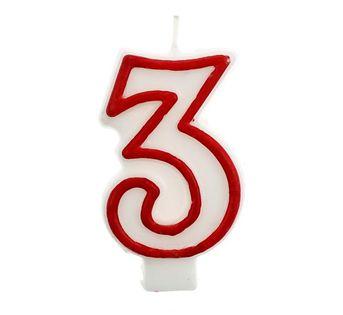 Świeczka na tort cyferka cyfry 3,4,5,6,7,8,9,0,1,2