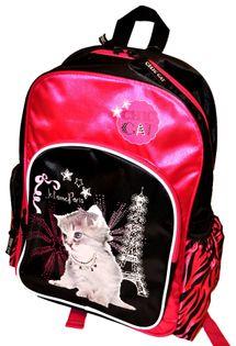 Chic Cat Plecak szkolny jednokomorowy black