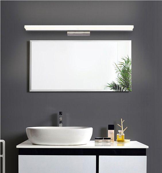 Minimalistyczna lampa nad lustro Kinkiet łazienkowy LED 50 cm 12W zdjęcie 7
