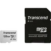 Transcend Memory microSDXC - Karta pamięci 128 GB A1 V30 UHS-I U3 95/40 MB/s z adapterem