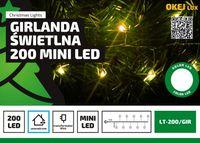 Lampki na druciku sznur 5 m • 200 LED • mini diody • zewnętrzne oświetlenie świąteczne NR 1786 Wielokolorowy
