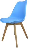 Skandynawskie krzesło KRIS FIORD z poduszką niebieskie BUKOWE NOGI