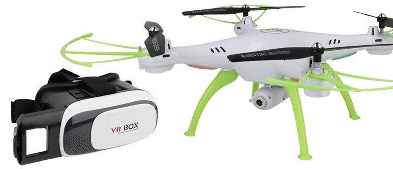 Dron Syma X5HW kamera Wi-Fi funkcja zawisu Gogle VR 3D Biały Y142GB zdjęcie 7