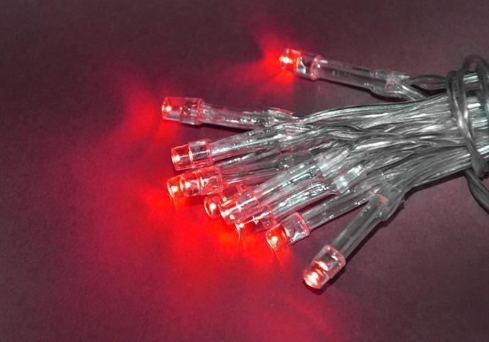 Lampki 10 LED na baterie - czerwony zdjęcie 4