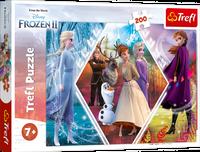 Trefl 13249 Puzzle 200 elementów Frozen II Kraina Lodu Siostry w Krainie