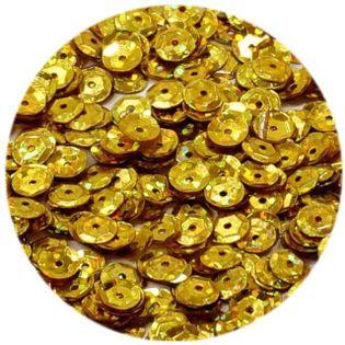 """Cekiny """"Classic Holo"""", złote, 6 mm, 15 g, DekoracjePolska"""