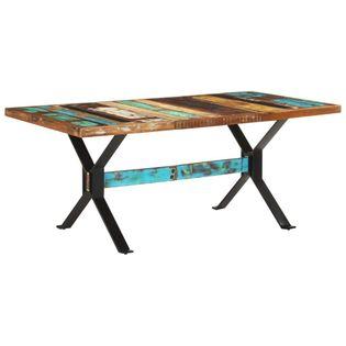 Lumarko Stół jadalniany, 180 x 90 x 76 cm, lite drewno z odzysku;