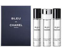 Chanel Bleu De Chanel Pour Homme Zestaw Woda Toaletowa Spray + Wkłady 3X20Ml