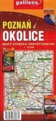 Mapa atrakcji tur. - Poznań i okolice pół.1:50 000 praca zbiorowa