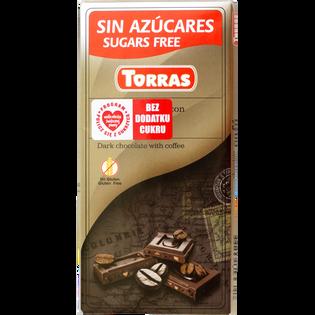 Czekolada gorzka z kawą bez cukru 75g TORRAS