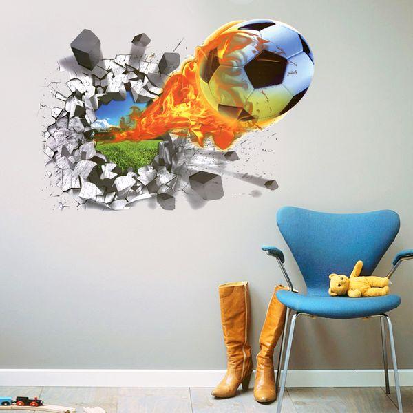 Naklejki Na ścianę ścienne Piłka 3d Nożna Ws 0222 Arenapl