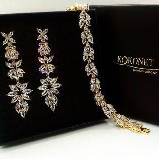 Komplet ślubny PENELOPA gold + FLORAL gold KOKONET 8-0282 i 8-0153