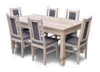 Stół i krzesła, krzesło, jadalnia, pokój, salon, dąb sanremo
