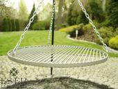 Grill ogrodowy na trójnogu PIOTR z rusztem stalowym 60 cm ES-ER zdjęcie 4