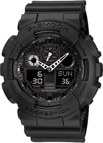 Zegarek Casio G-shock GA-100-1A1ER czarny zdjęcie 3