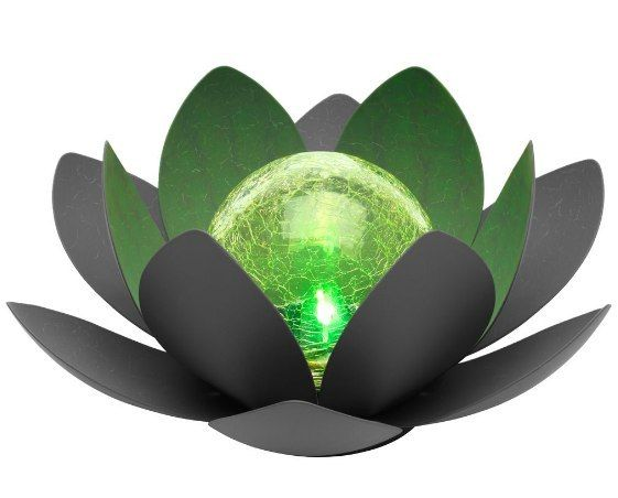 Oświetlenie słoneczne RGB Kwiat lotosu IP44 27cm tarasowe swe zdjęcie 1