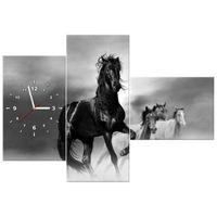 ZEGAR  Czarny koń 100x70