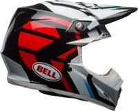 KASK BELL MOTO-9 MIPS DISTRICT WHITE/BLACK/RED XL