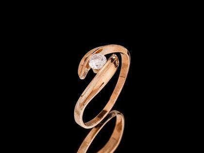 P508  Złoty pierścionek z cyrkonią 333
