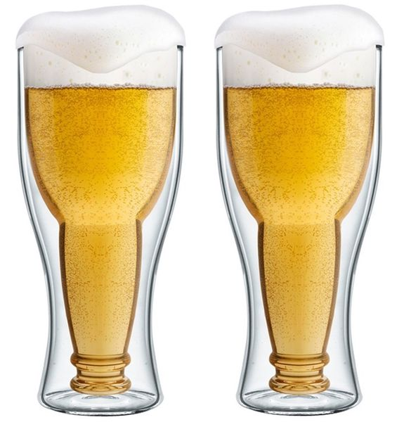 Szklanki Kufle Termiczne z Podwójną Ścianką Piwa Pokale 350ml 6 sztuk zdjęcie 2