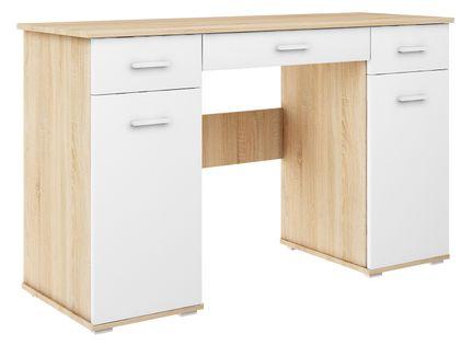 biurko ABS B1 DĄB SONOMA/BIAŁY duże szkolne młodzieżowe producent
