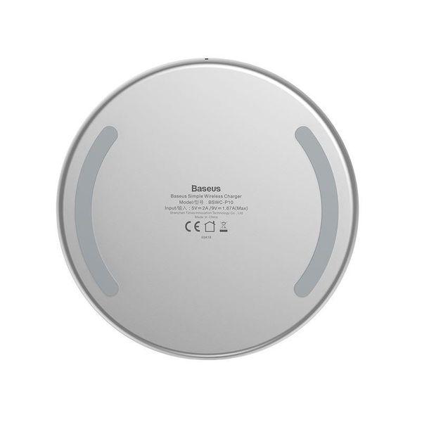 Baseus Simple - Bezprzewodowa ładowarka indukcyjna Qi do iPhone i Android 10W (biały) zdjęcie 8