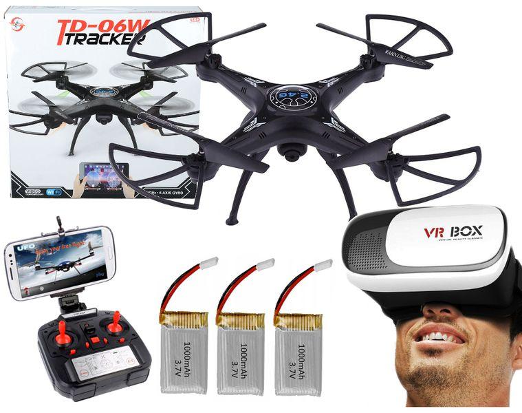 DRON TD06 z Kamerą WiFi+Okulary3D 3Aku x1000mAh 6Axis-Gyro Z282G zdjęcie 1
