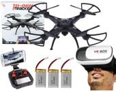 DRON TD06 z Kamerą WiFi+Okulary3D 3Aku x1000mAh 6Axis-Gyro Z282G
