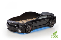 Łóżko AUTO samochód - Mebelev MG 3D full CZARNE