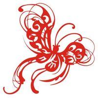 Naklejka dekoracyjna D 88, D88, motyl, motylek Rozmiar - XL, Kolor - Czarny, Odbicie lustrzane - Tak