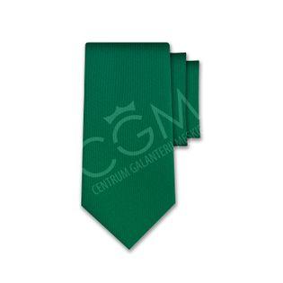 Krawat jednolity zielony - butelkowy