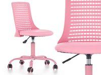 DZIECIĘCE Krzesło obrotowe pokoju dziewczynki PURE Fotel do biurka