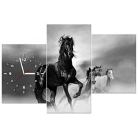 ZEGAR  Czarny koń 90x60