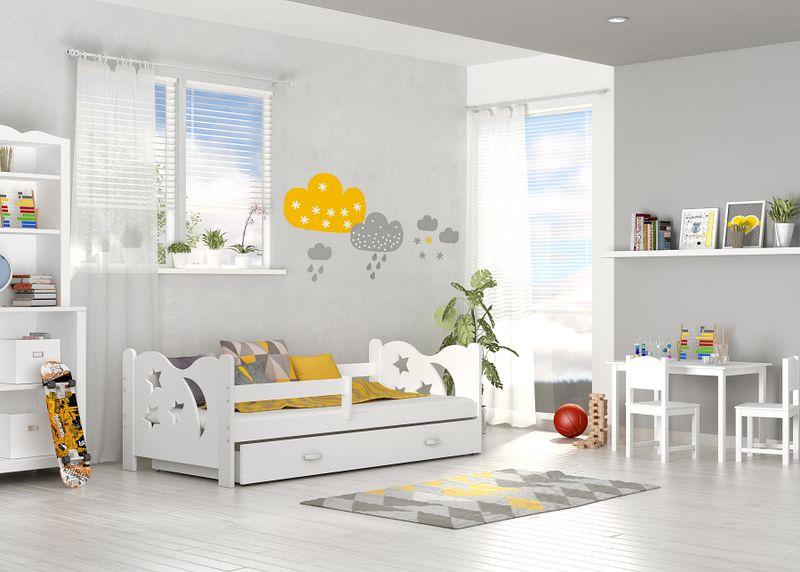 Łóżko dla dzieci MIKOŁAJ COLOR 160x80  szuflada + materac zdjęcie 2