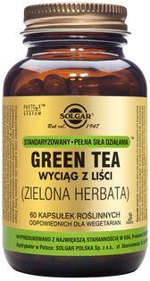 Zielona herbata wyciag standaryzowany z liści Green tea 60 kapsułek Solgar