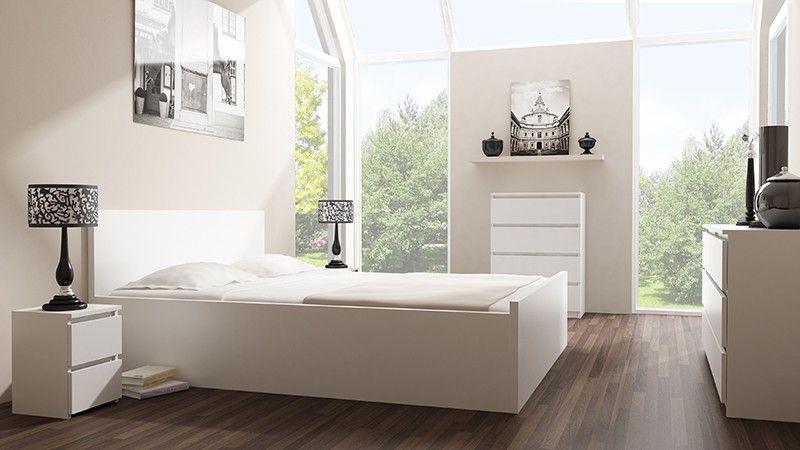 Szafka komoda stolik nocny 2 szuflady  m2 biała zdjęcie 2