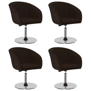 Krzesła stołowe, 4 szt., brązowe, sztuczna skóra