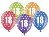 Balon z nadrukiem w cyferki 18 urodziny, 34cm