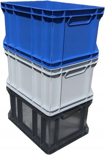 Plastikowy pojemnik magazynowy transportowy skrzynka 1/2 EURO 40x30x22 na Arena.pl