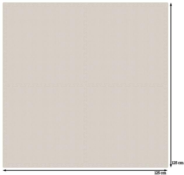 PUZZLE PIANKOWE MATA 4szt 62x62x1,1 cm Biały na Arena.pl