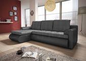 Narożnik Santi II w materiale zmywalnym - kanapa, sofa, łóżko, rogówka zdjęcie 5