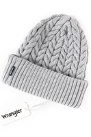 WRANGLER BRAIDED BEANIE MID GREY MEL W0M40UH37 ONE SIZE