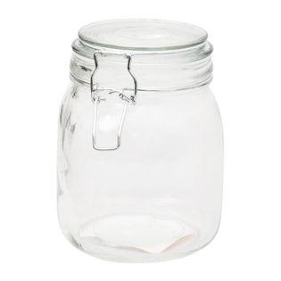 Pojemnik szklany słoik z metalowym klipsem LEEN 1000 ml
