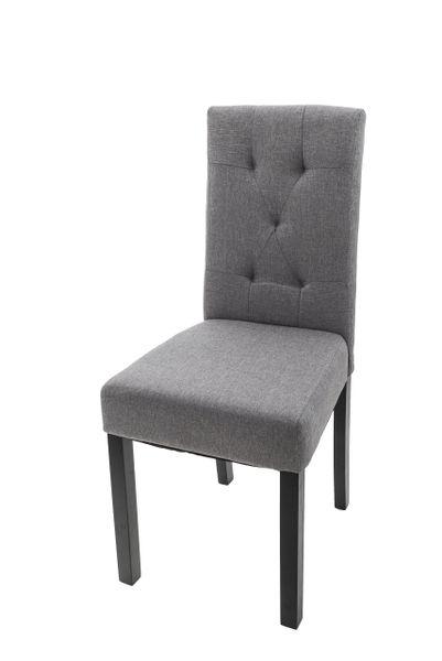 Bardzo dobra Krzesło do jadalni OXFORD Pikowane Szare • Arena.pl DQ49