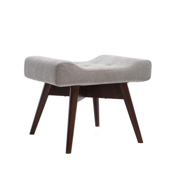 Fotel uszak mały styl skandynawski podnóżek gratis zdjęcie 6