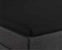 Prześcieradło na gumce, dzielone - bawełna k. czarny 180 x 210